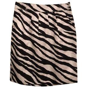 New Banana Republic Miranda Black Zebra Skirt 6